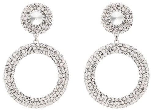 Декорированные серьги-кольца ALESSANDRA RICH