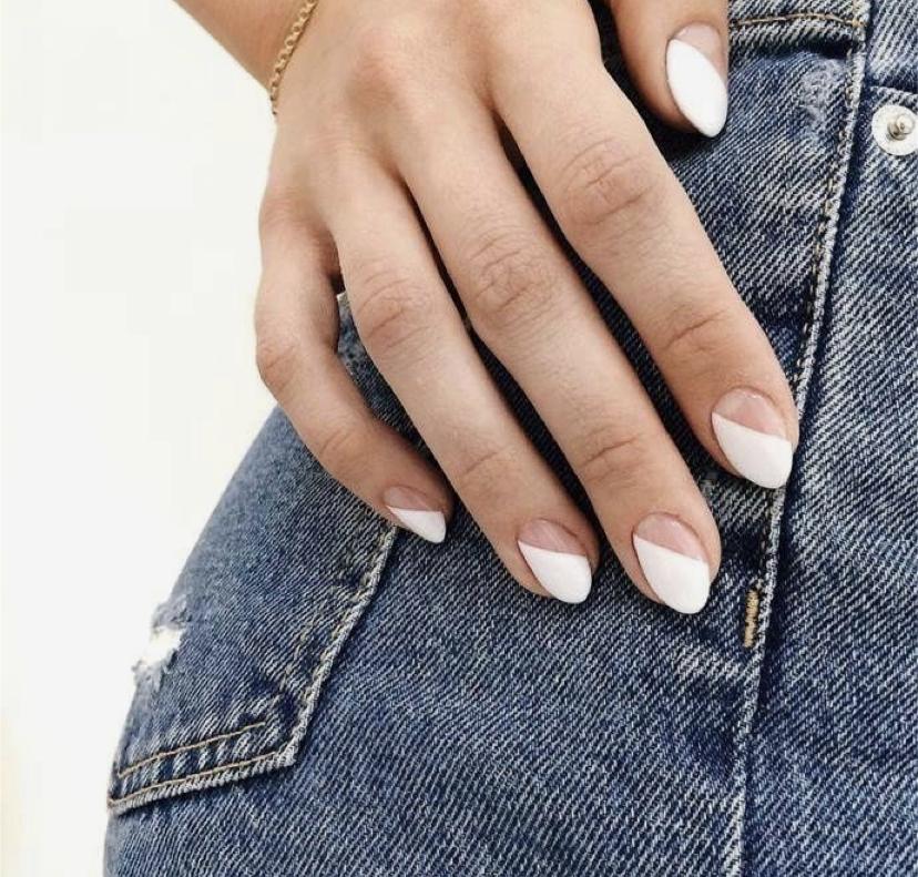 тренды маникюра миндаливидная форма ногтей
