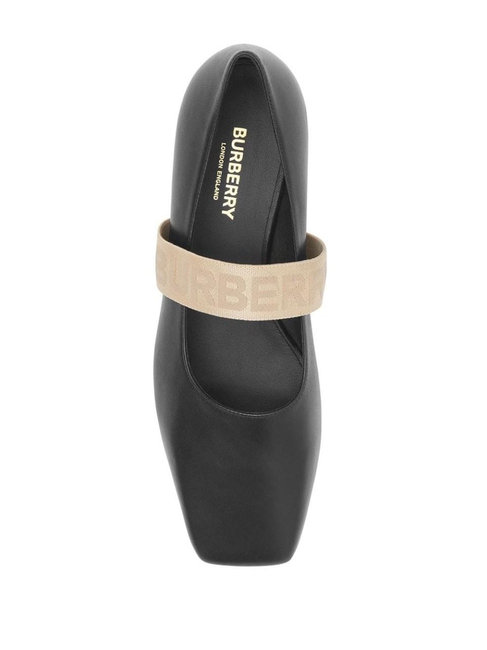 Burberry Туфли на плоской подошве с логотипом