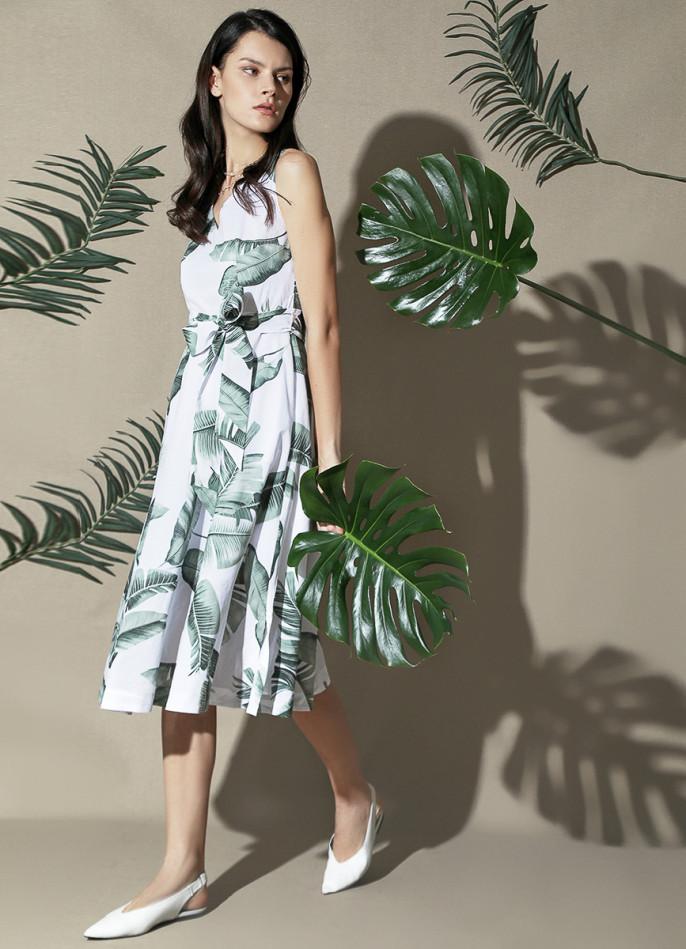 платье из хлопка-вуаль