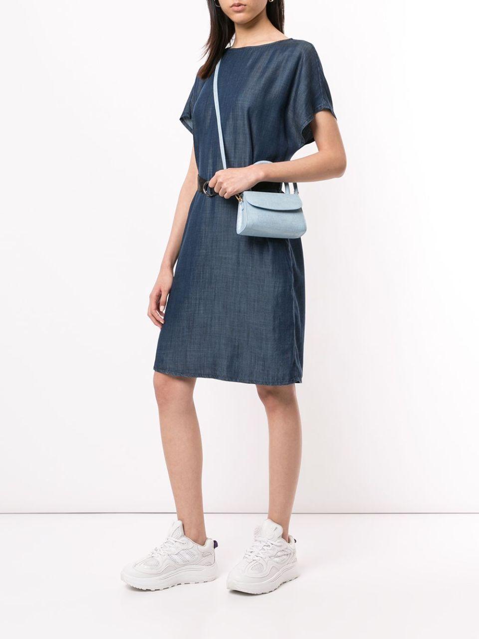 Emporio Armani джинсовое платье с поясом