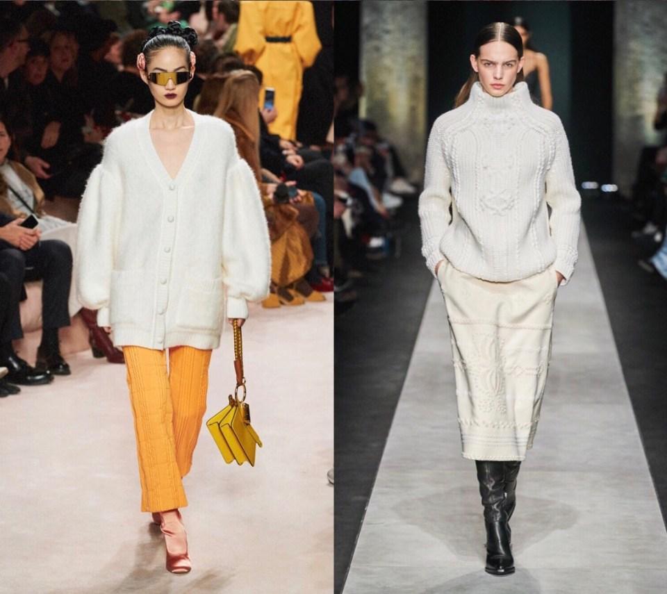 трикотажные свитера модный тренд осень зима 2020 2021