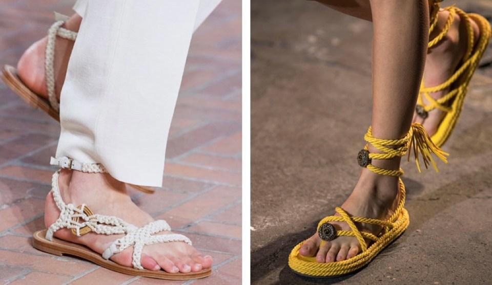 Плетеная обувь тренды весна лета 2021