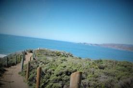 hiking path along the cliffs
