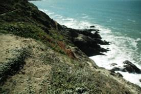 cliff side boulders