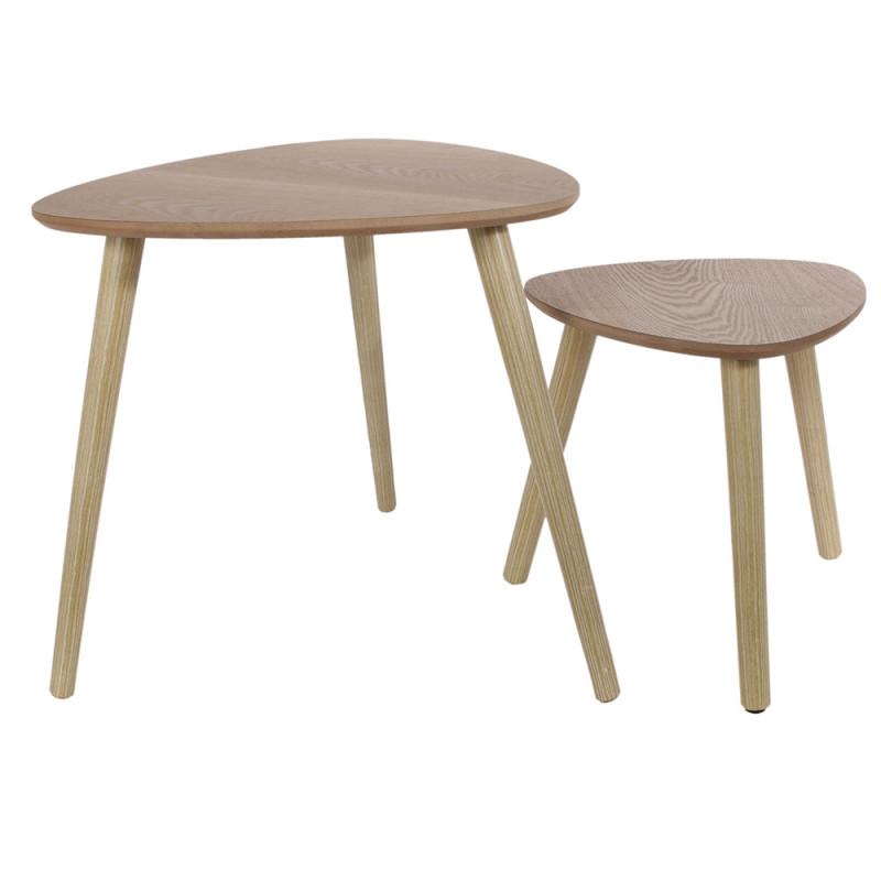 tables gigognes triangulaires en bois