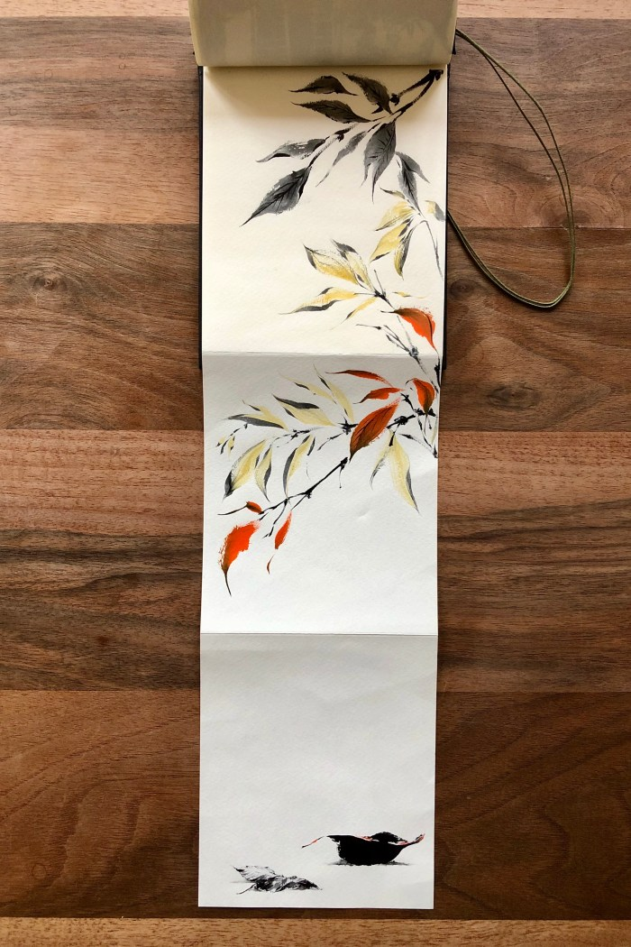 fallen leaves painting