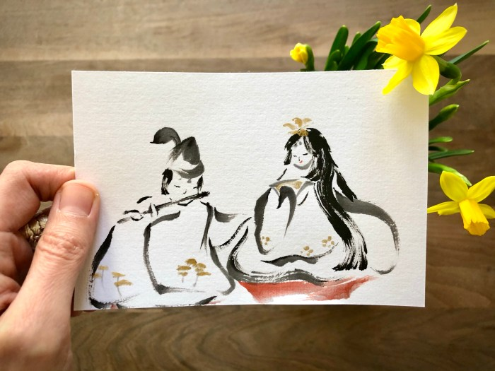 doll festival postcard