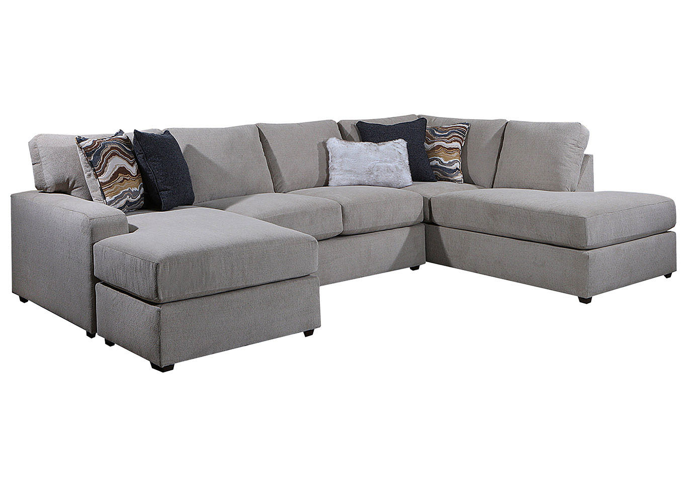 lane furniture 8011 double chaise sectional amplify beige