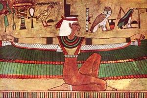 La déesse Isis - peinture murale de Karnak - 1360 av JC