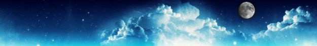 ciel lunaire bleu