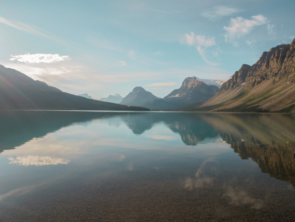 Bow lake Yoho national park