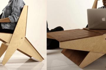 一翻即變身!多功能家具 Kagu 是椅也是桌