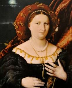 Lotto apertura Ritratto di Lucina Brembati 1518-1523
