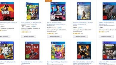 Photo of Amazon-Tipp: Aktuelle Games (alle Systeme) 5 Spiele für 3 (Partnerlink)