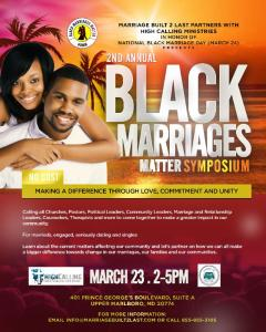 Black Marriages Matter Symposium @ High Calling Ministries