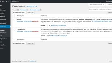 Разширения в WordPress