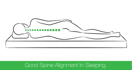 49365145 - the correct spine alignment when sleeping by on the side sleeping position.