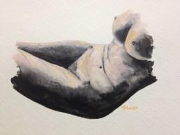 Candied Venus No. 3, 5x7, gouache on paper