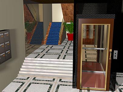 Modélisation d'ascenseurs 3D