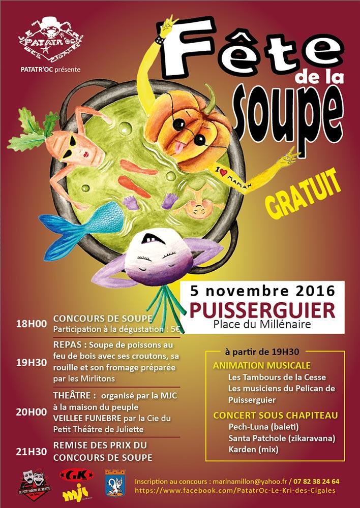 Affiche fête de la soupe 2016