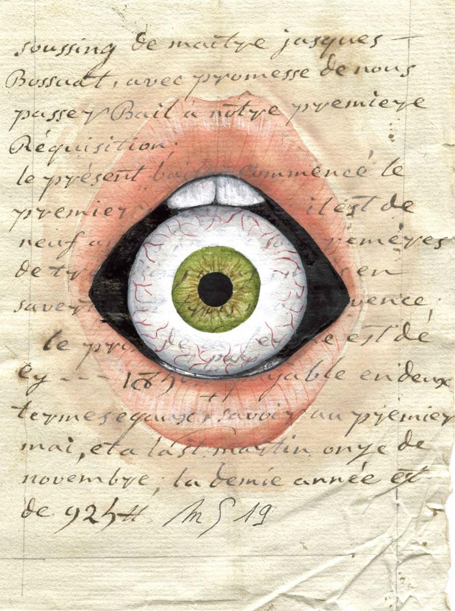 L'oeil à la bouche | 13 cm x 9 cm