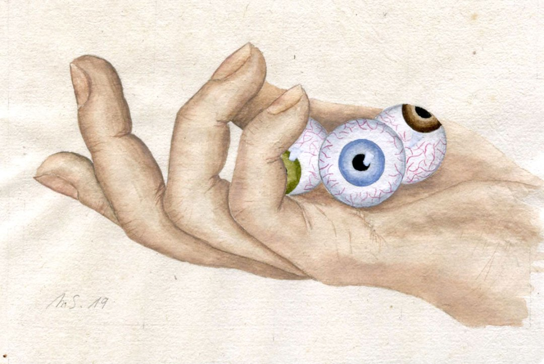 La poignée d'yeux   10 cm x 15 cm
