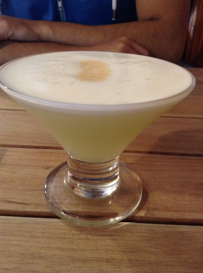 - Pisco Sour: refrescante -