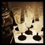 Bicchieri brindisi con pensiero