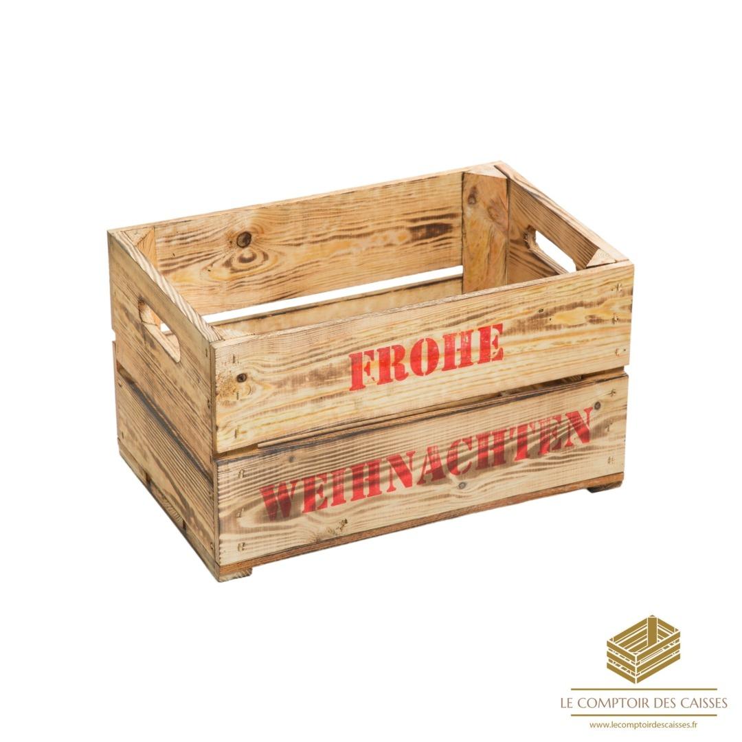 la caissette a pommes flambee neuve le distri market des caisses caisses en bois vintage coffres en bois
