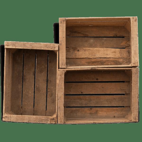 caisses en bois vintage