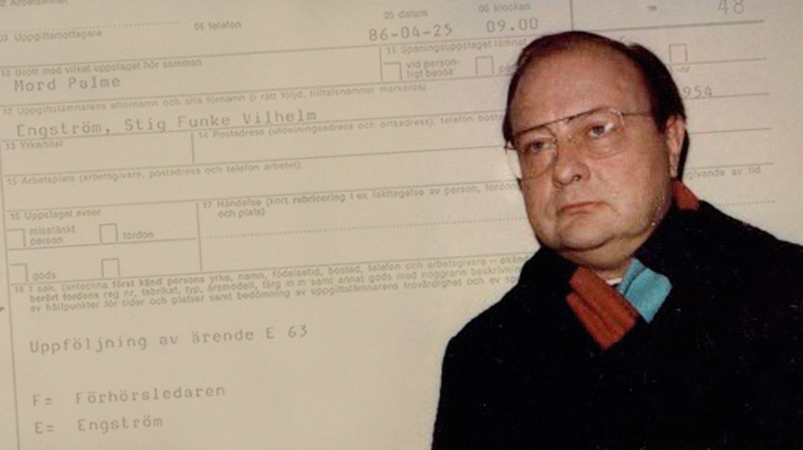 Skandiamannen Stig Engström pekas ut som Olof Palmes mördare.
