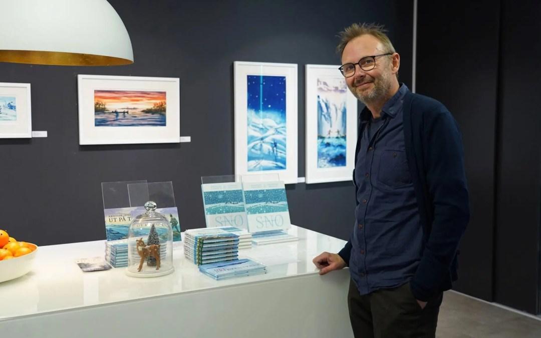 På veggen: Kristian Finborud