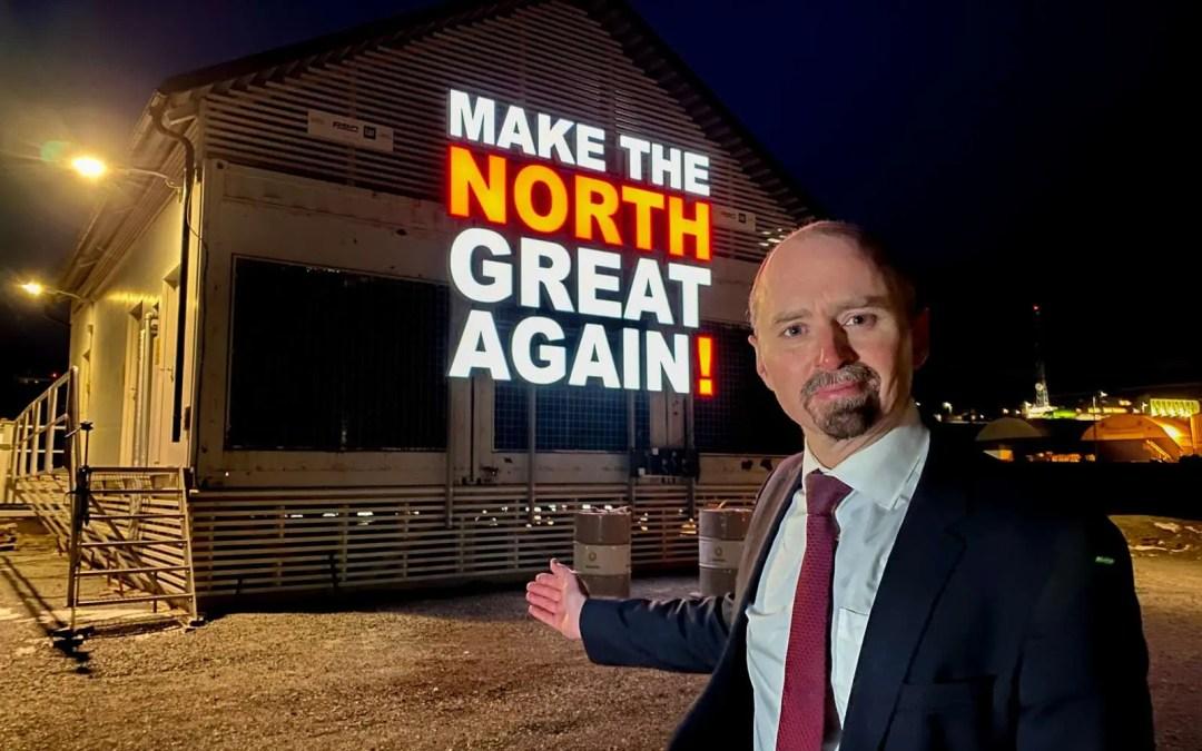 Nordting med kontroversiell installasjon i Longyearbyen. Kunst, performance og patriotisme.