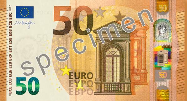 Představení nové padesátieurové bankovky řady Europa