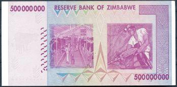 Bankovka Zimbabwe 500 milionů dolarů