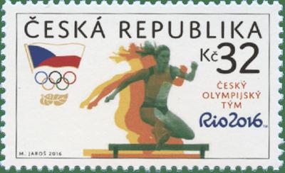 Známky České pošty k příležitosti XXXI. Olympijských her