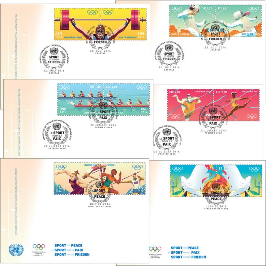 Známky OSN Sportem za mír