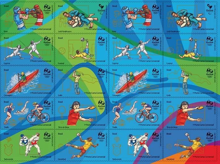 Brazilské olympijské známky