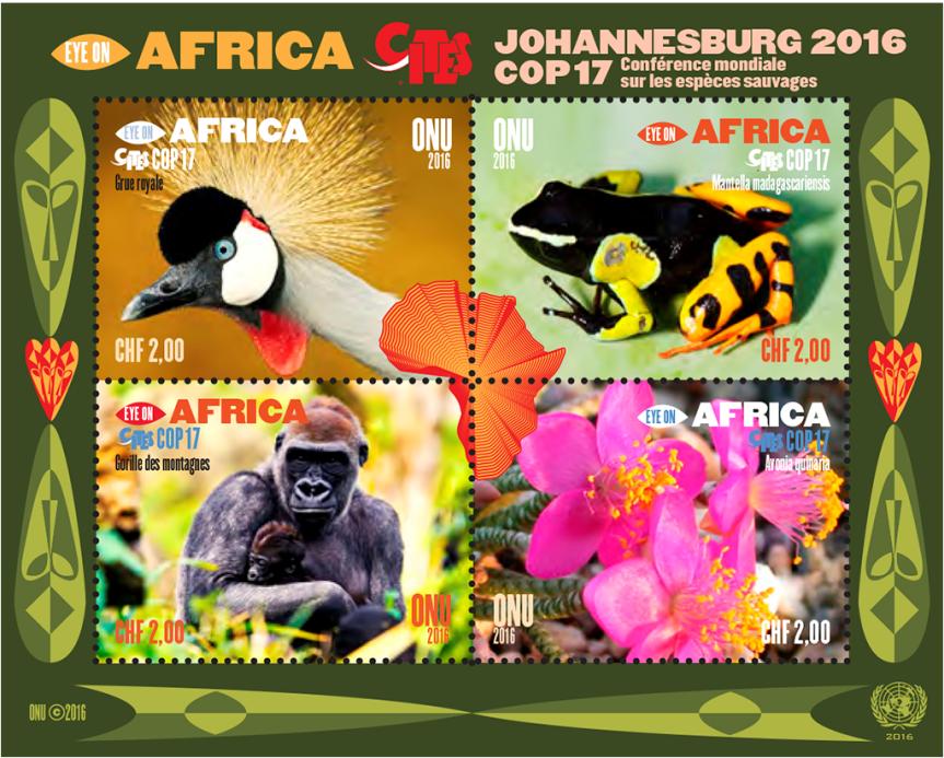 Známky Organizace spojených národů na námět africká příroda