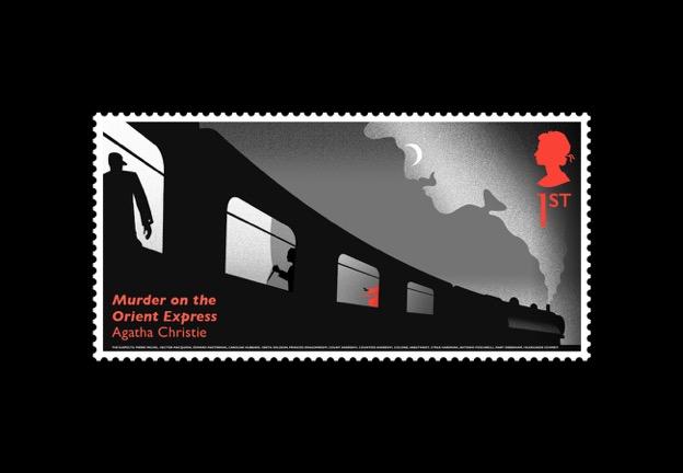 Nové známky britské pošty: Agatha Christie