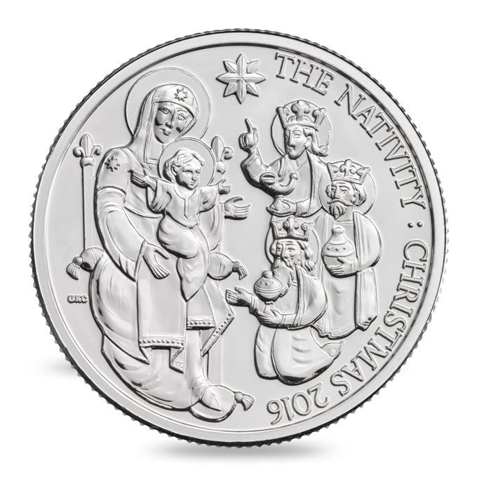 První vánoční pamětní mince Spojeného království