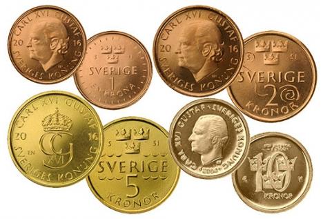 Nové švédské mince v oběhu od října 2016