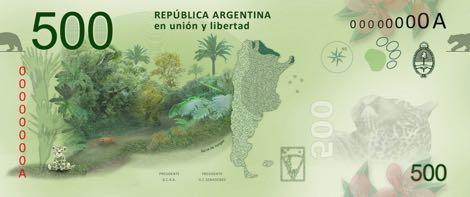 Nové argentinské bankovky