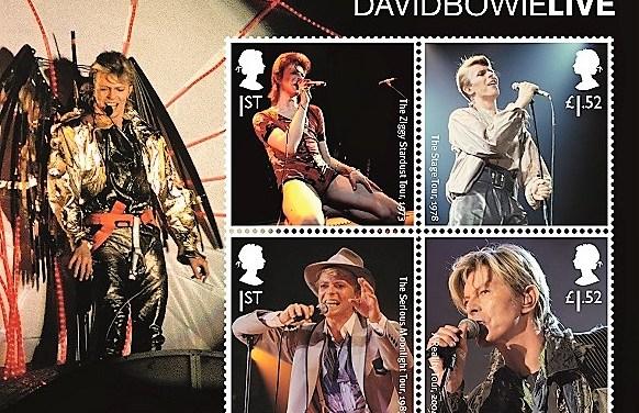 Spojené království vydává známky s Davidem Bowiem