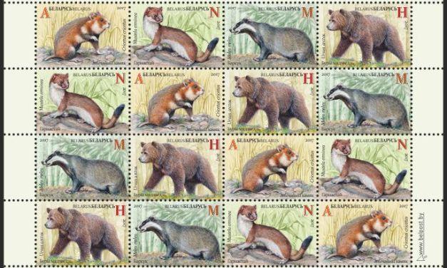 Nové běloruské známky: chránění savci