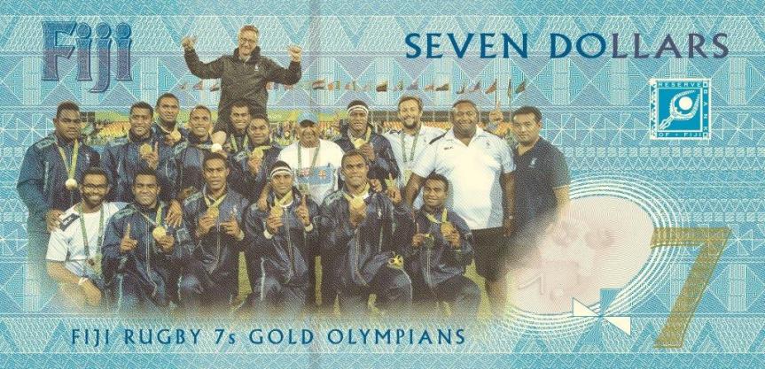 Nové bankovky a mince Fidži slaví první olympijské zlato v historii země