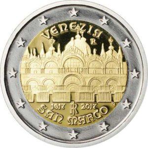 Nová italská pamětní euromince s bazilikou sv. Marka