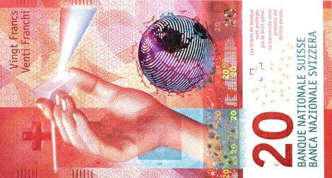 Nové švýcarské bankovky 20 CHF