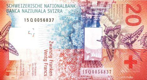 Nové švýcarské bankovky